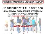 """""""I nostri passi verso la buona scuola"""", il 10 ottobre convegno sulla riforma della Scuola"""