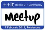 Meetup C++, sabato 7 febbraio a Pordenone