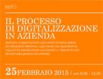Il processo di digitalizzazione, seminario il 25 febbraio al Polo Tecnologico