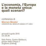 """Incontro con Warren Mosler il 9/04: """"L'economia, l'Europa e la moneta unica: quali scenari?"""""""