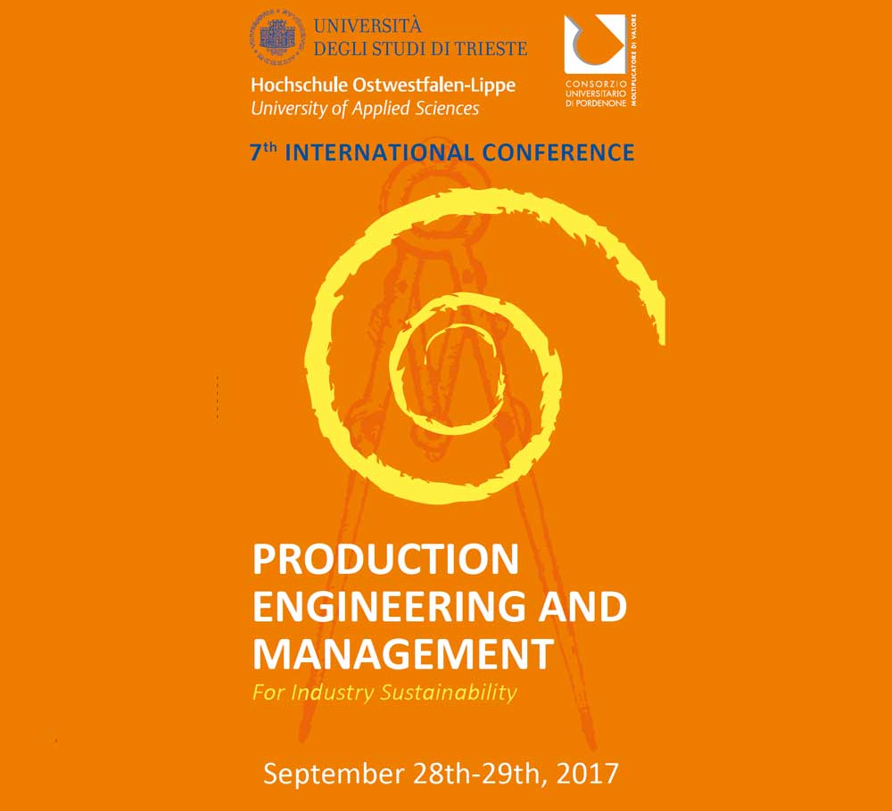 7th PEM Conference 2017: Production Engineering and Management 28-29/9/2017