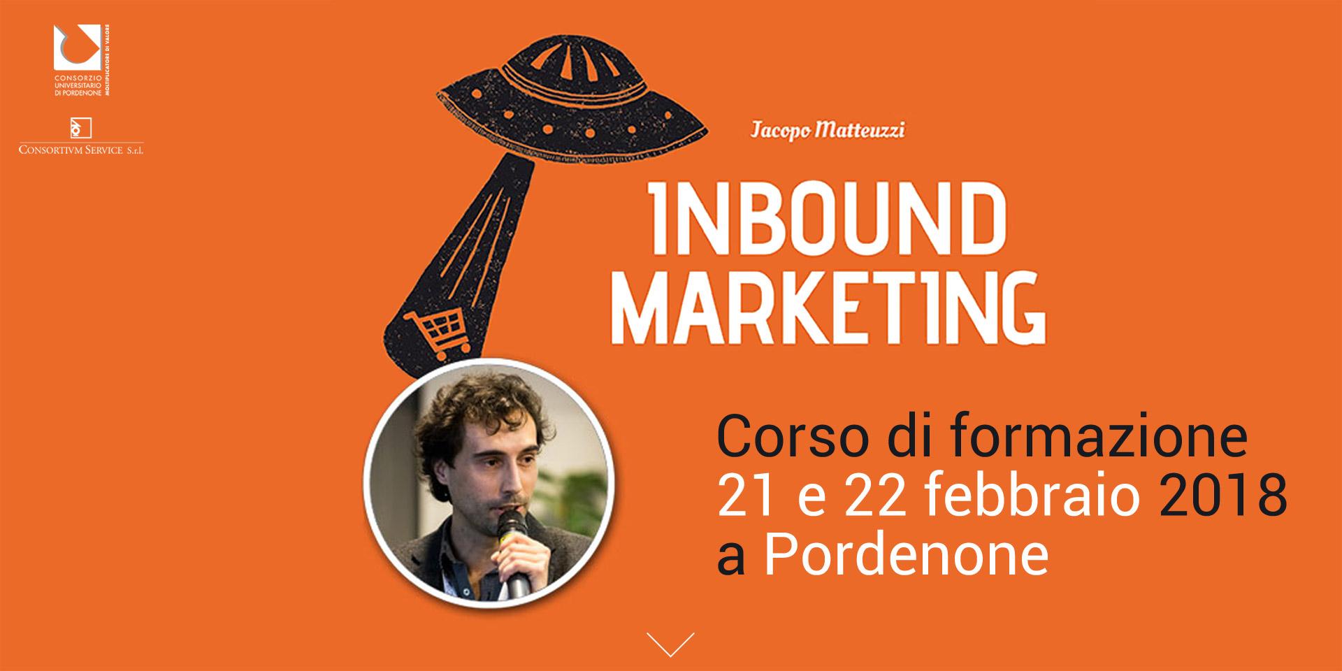 """Corso Inbound Marketing con Jacopo """"Samo"""" Matteuzzi al Consorzio Universitario il 21 e 22 febbraio 2018"""