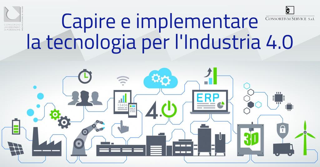 Capire e implementare la tecnologia per l'Industria 4.0 il 6 marzo 2018