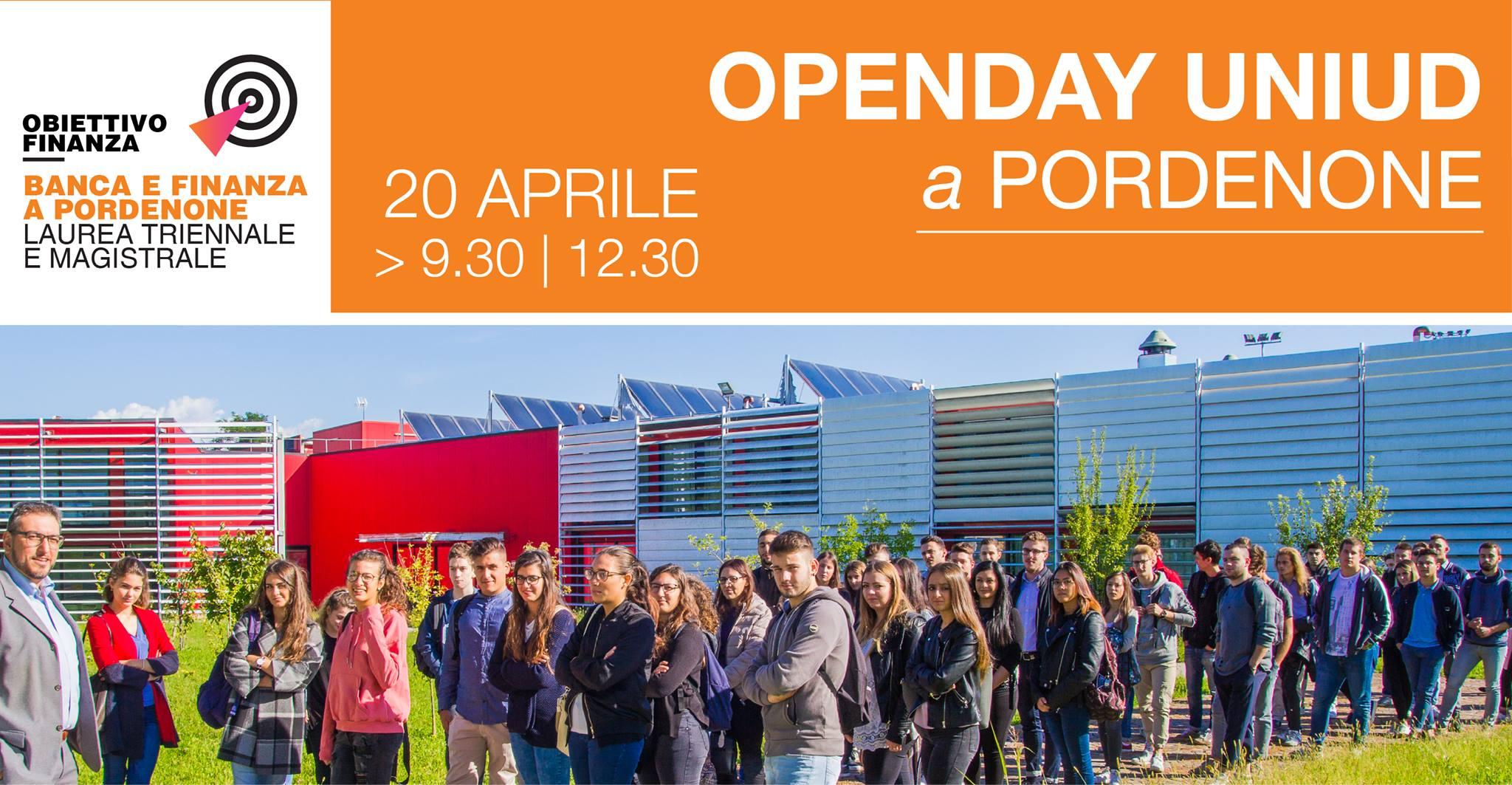 #Open Uniud Sede di Pordenone il 20 Aprile 2018