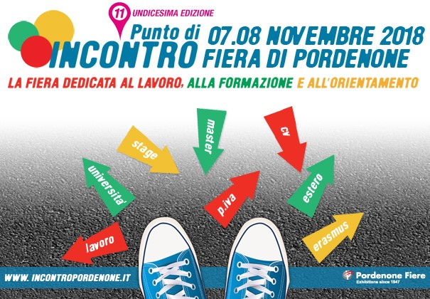 Fiera Punto di Incontro 2018: vieni a conoscere l'offerta formativa universitaria a Pordenone