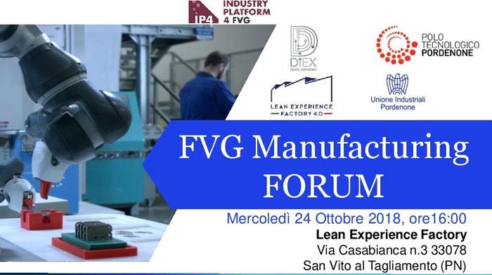FVG Manufacturing Forum il 24 ottobre 2018