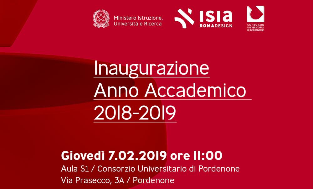 Inaugurazione dell'Anno Accademico dell'ISIA Roma Design il 07/02