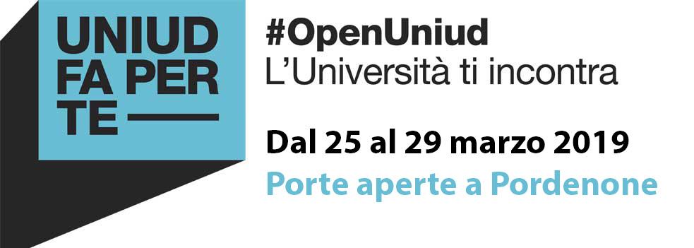 #OpenUniud: porte aperte 2019