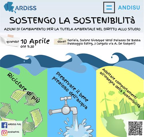"""Convegno nazionale """"Sostengo la Sostenibilità"""" il 10 aprile a Gorizia"""