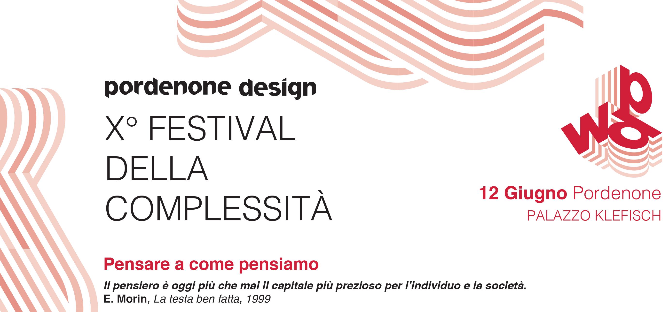 10° FESTIVAL DELLA COMPLESSITA' – 12 giugno a Pordenone