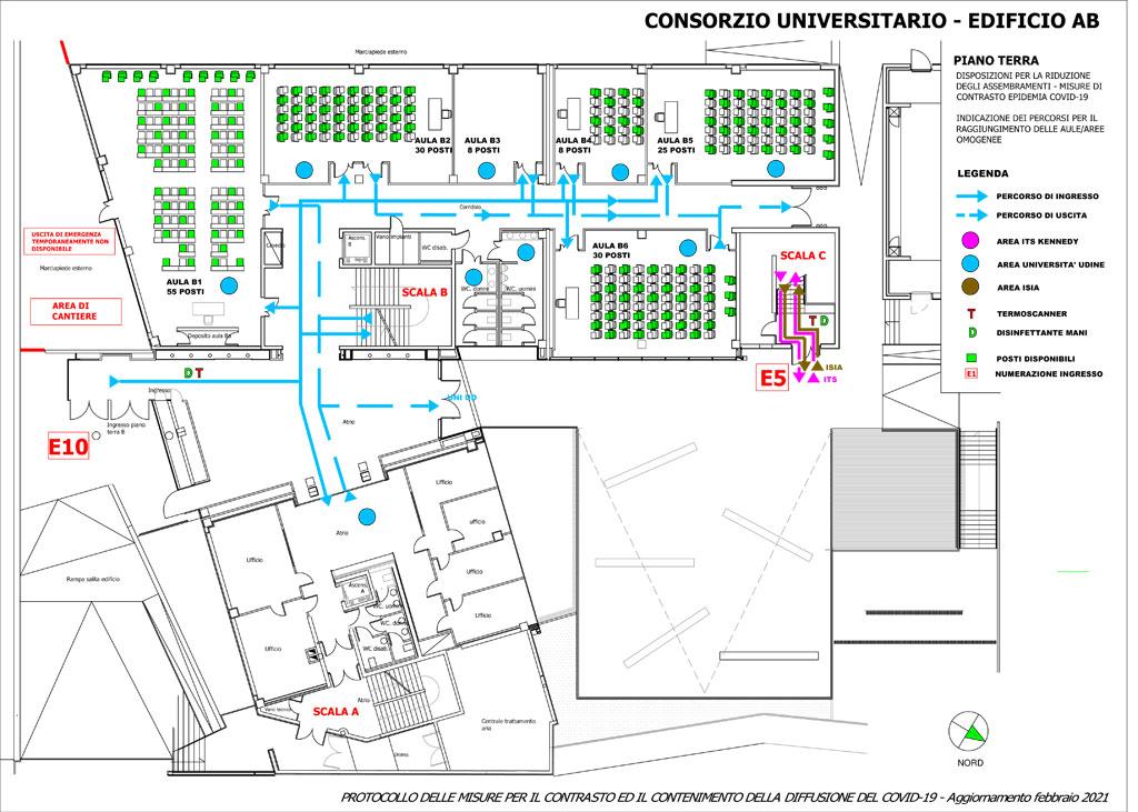 Sicurezza Covid-19 Accesso al Consorzio Universitario